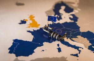 GDPR - Lock on EU with EU flag